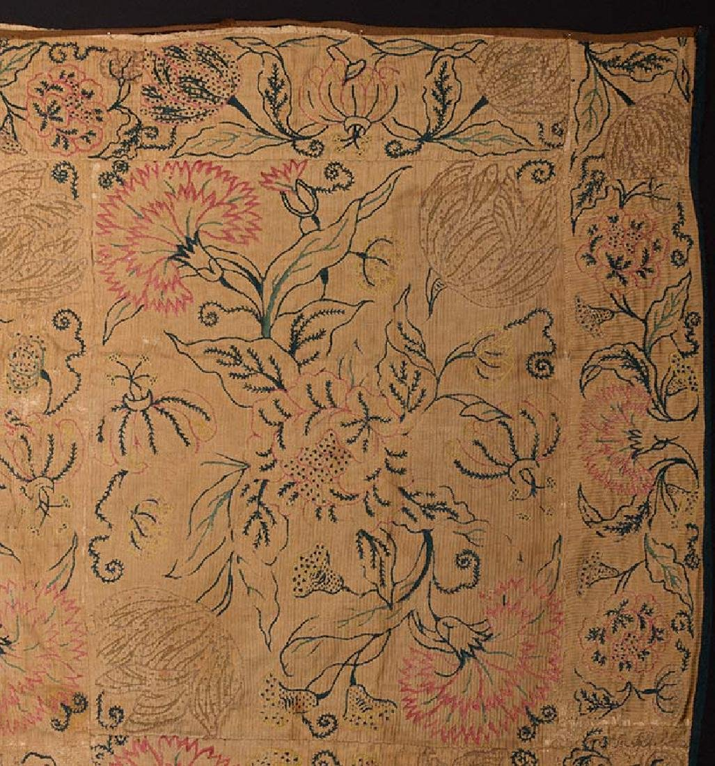 EMBROIDERED PATCHWORK PANEL, 17th -18th C. - 2