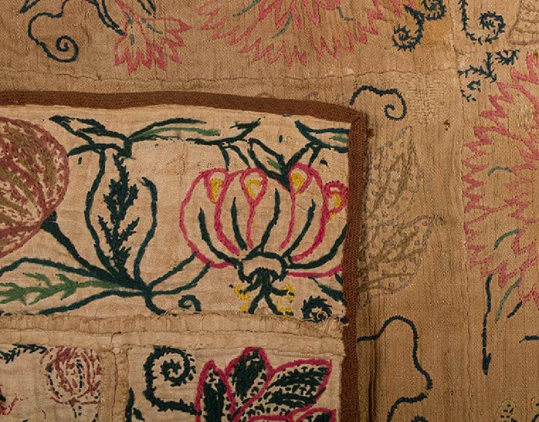 EMBROIDERED PATCHWORK PANEL, 17th -18th C. - 5