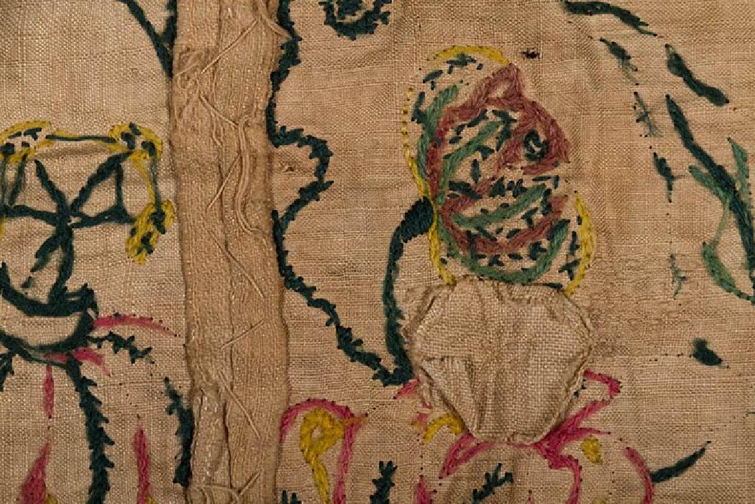 EMBROIDERED PATCHWORK PANEL, 17th -18th C. - 8
