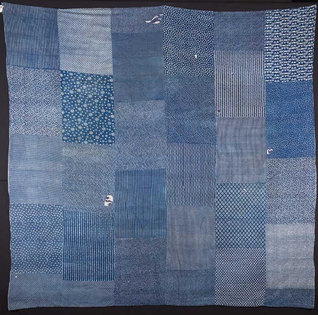 TWO INDIGO BORO QUILTS, JAPAN, LATE 19th C. - 2