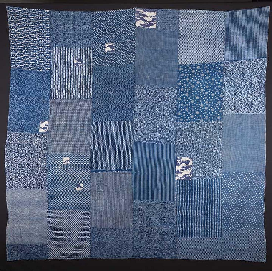 TWO INDIGO BORO QUILTS, JAPAN, LATE 19th C. - 3
