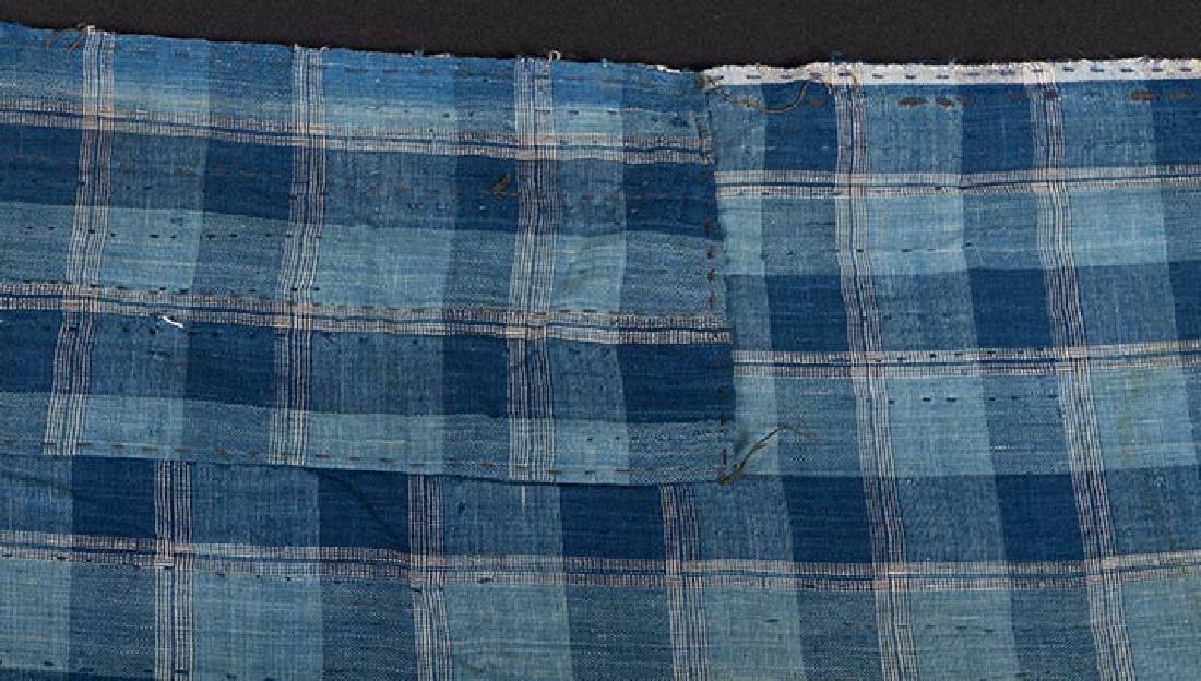 TWO INDIGO KOUSHI PATCHWORK CLOTHS, JAPAN, LATE 19th C. - 2