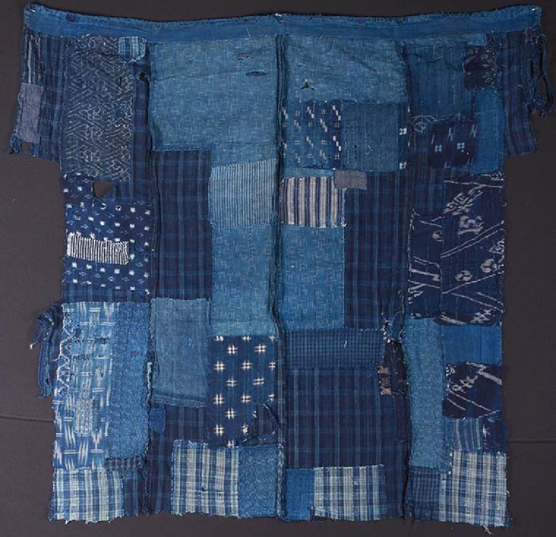 TWO INDIGO BORO PATCHWORK CLOTHS, JAPAN, LATE 19th C. - 4