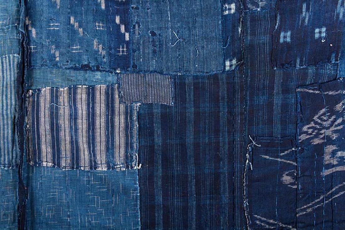 TWO INDIGO BORO PATCHWORK CLOTHS, JAPAN, LATE 19th C. - 5
