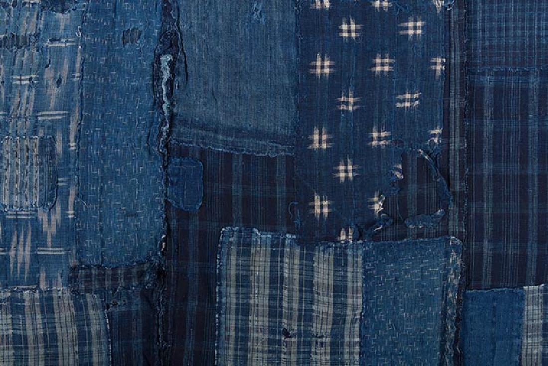 TWO INDIGO BORO PATCHWORK CLOTHS, JAPAN, LATE 19th C. - 6