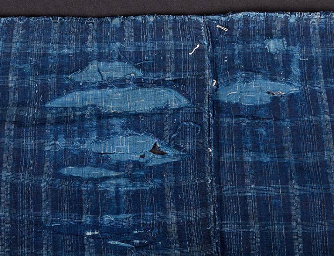 TWO INDIGO BORO PATCHWORK CLOTHS, JAPAN, LATE 19th C. - 7
