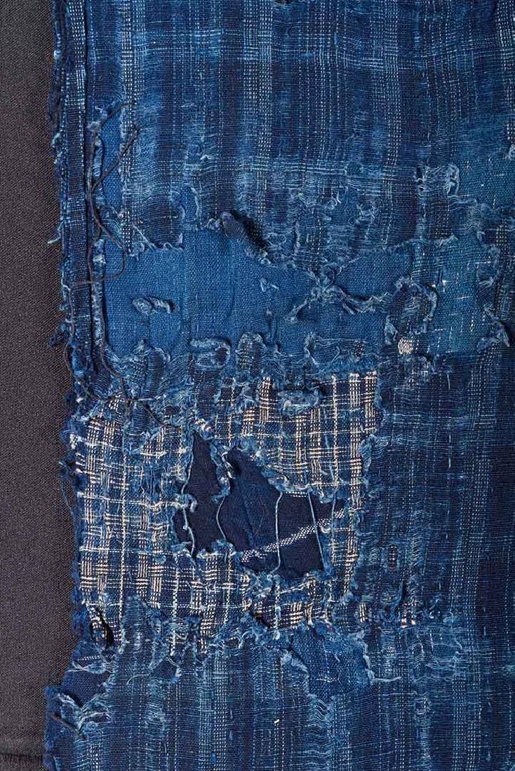 TWO INDIGO BORO PATCHWORK CLOTHS, JAPAN, LATE 19th C. - 8