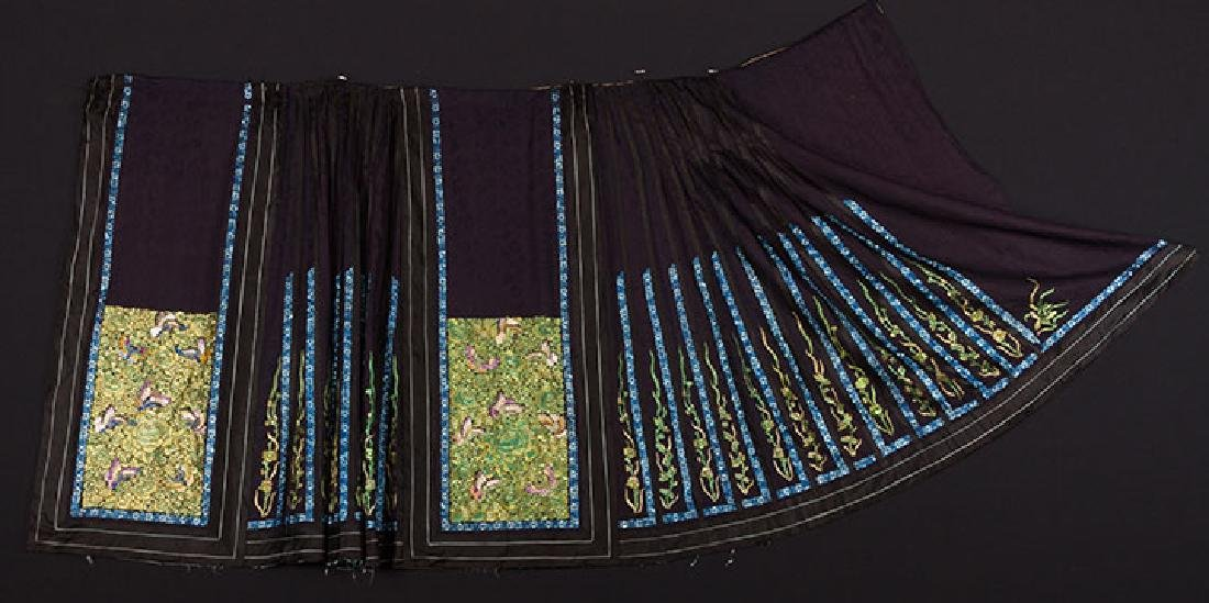 TWO EMBROIDERED SILK SKIRTS, CHINA, 1880-1920 - 2