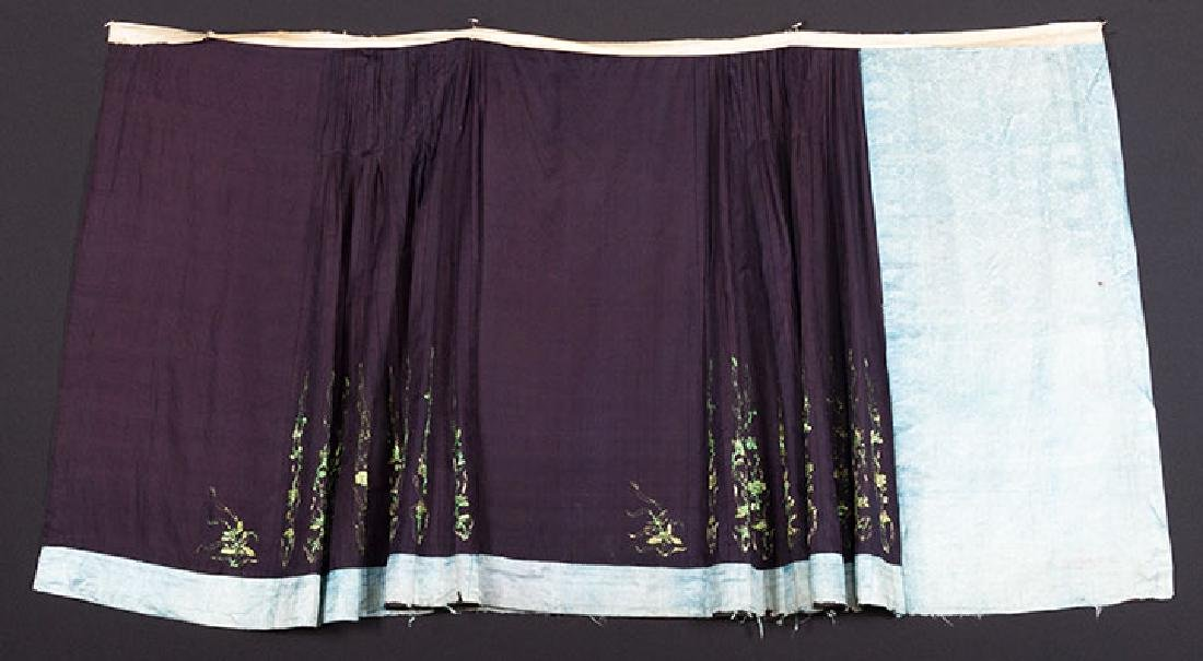 TWO EMBROIDERED SILK SKIRTS, CHINA, 1880-1920 - 5