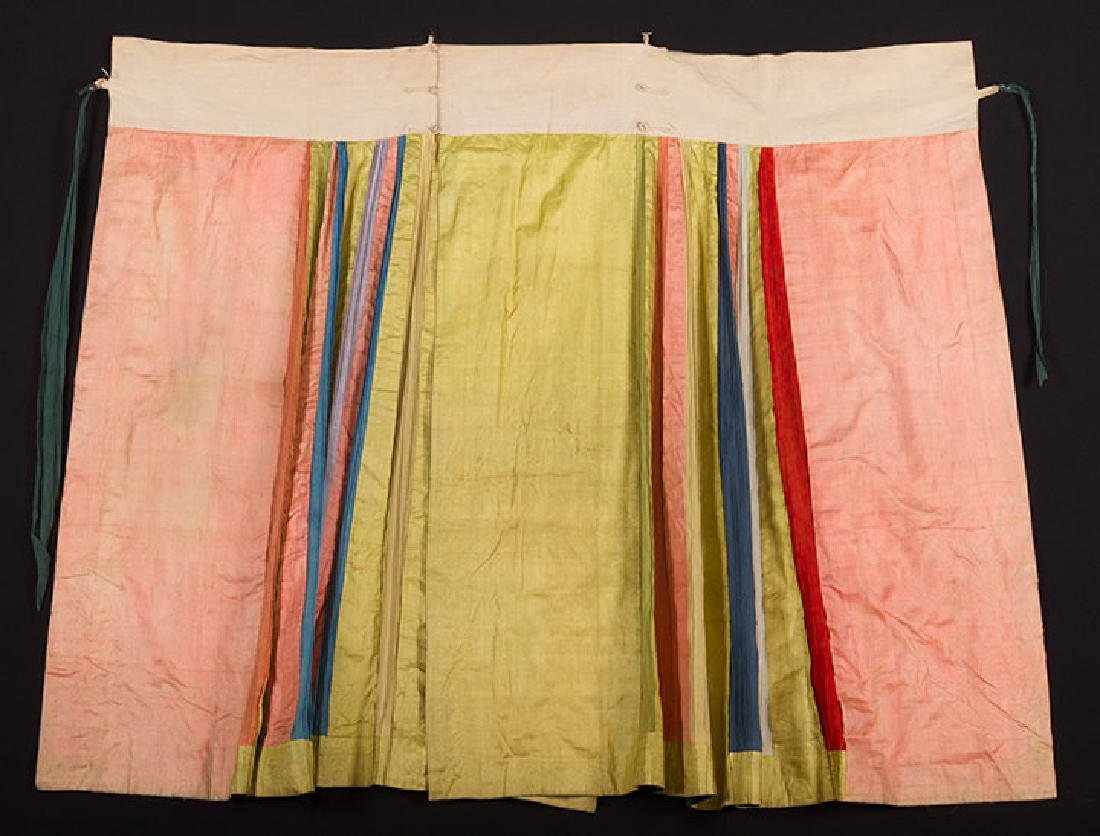 TWO EMBROIDERED SILK SKIRTS, CHINA, 1880-1920 - 9