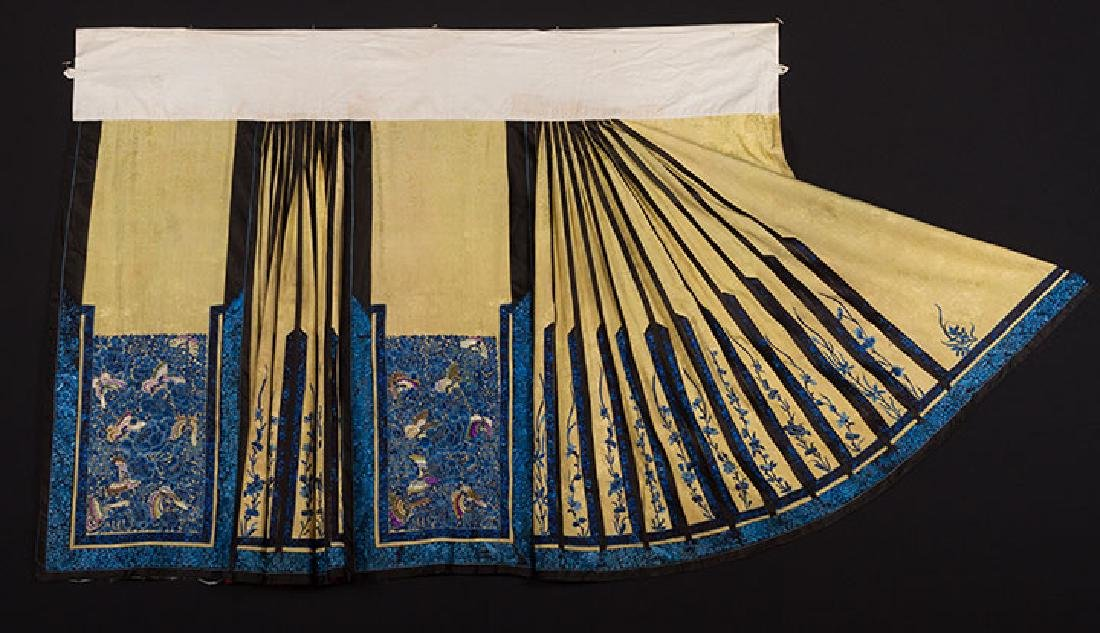 2 EMBROIDERED SILK SKIRTS, CHINA, 1880-1920 - 2