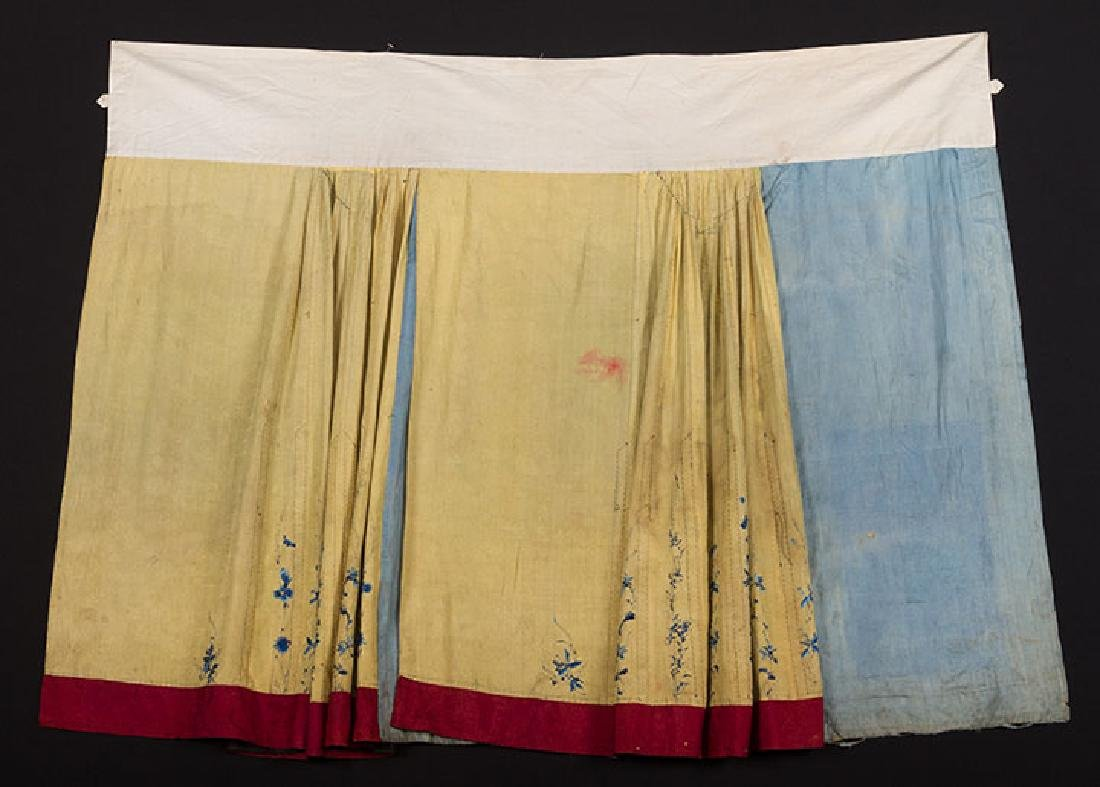 2 EMBROIDERED SILK SKIRTS, CHINA, 1880-1920 - 5