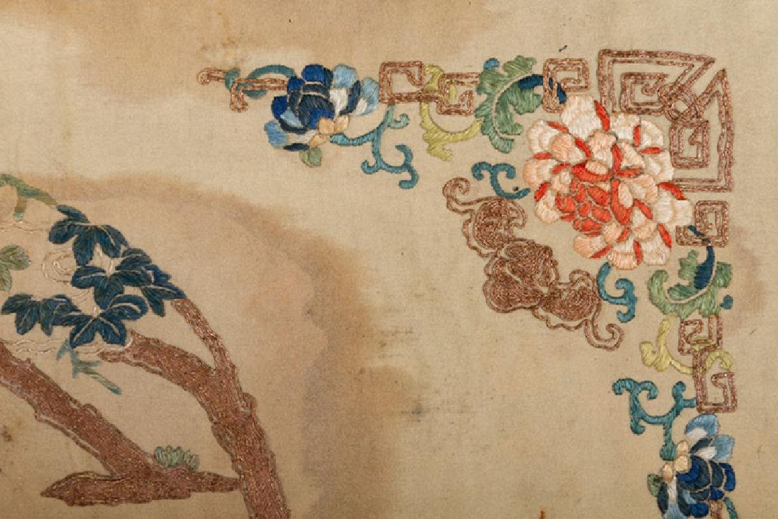 2 HANGING CHINESE BANNERS, 19th C. - 3