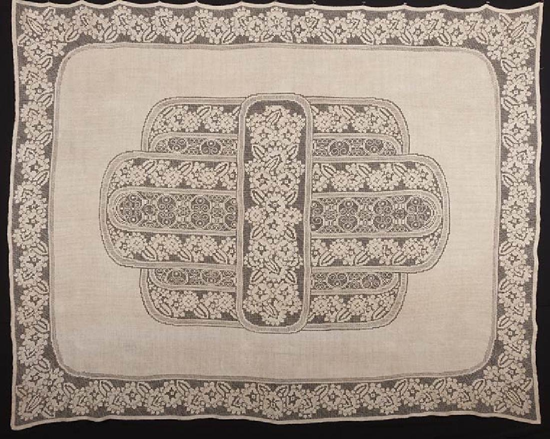 2 LINEN TABLECLOTHS, ART DECO, EARLY 20TH C. - 6