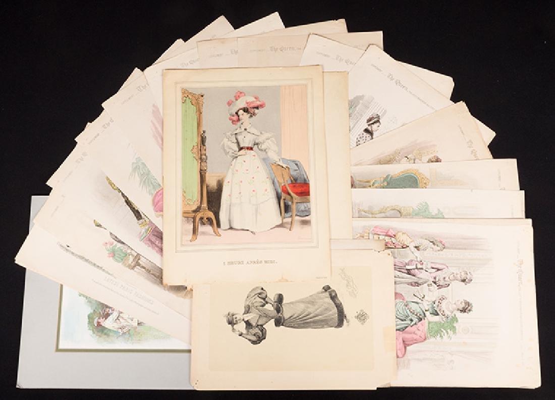 31 FASHION PLATES, 1830 - 1900