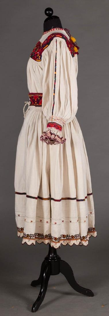 RED EMBROIDERED SKIRT & TOP, c. 1900 - 3