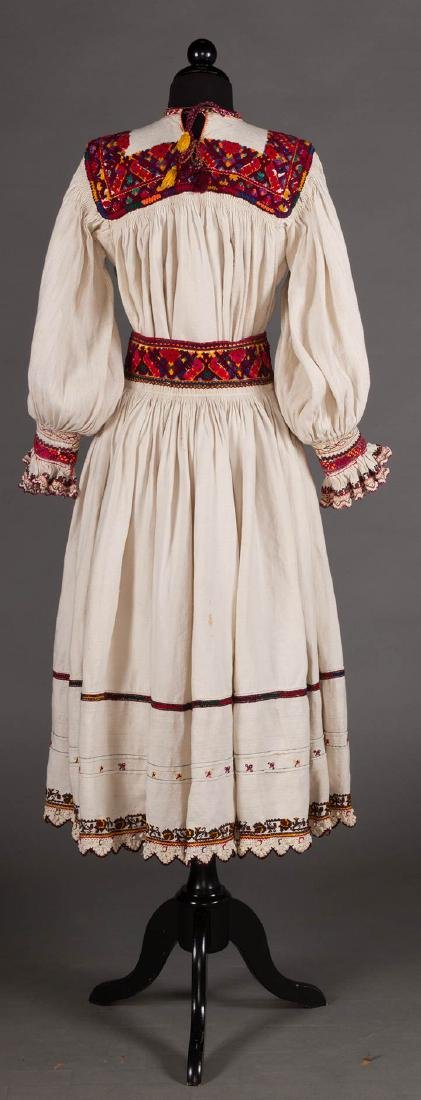 RED EMBROIDERED SKIRT & TOP, c. 1900 - 4