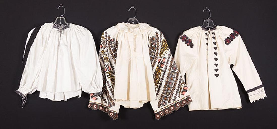 3 EMBROIDERED ETHNIC BLOUSES