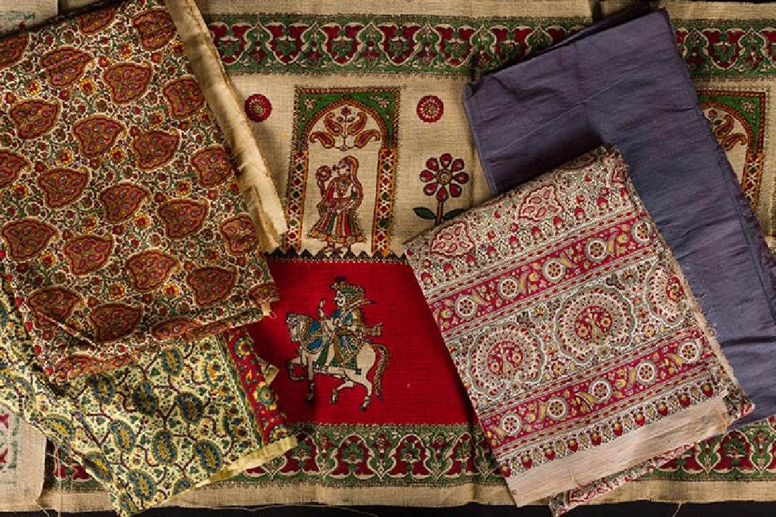 LOT OF INDIAN TEXTILES - 2