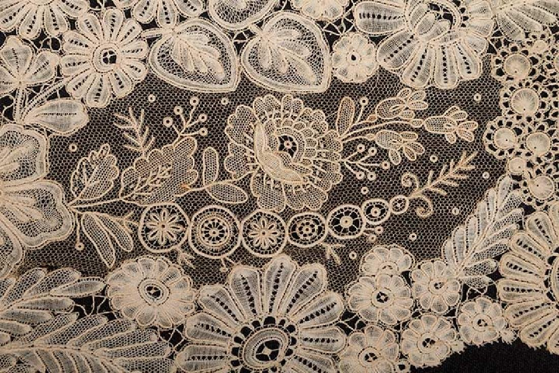 BRUSSELS MIXED LACE SHAWL, c. 1860