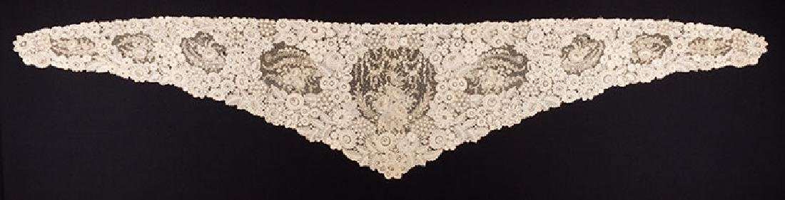 BRUSSELS MIXED LACE SHAWL, c. 1860 - 3
