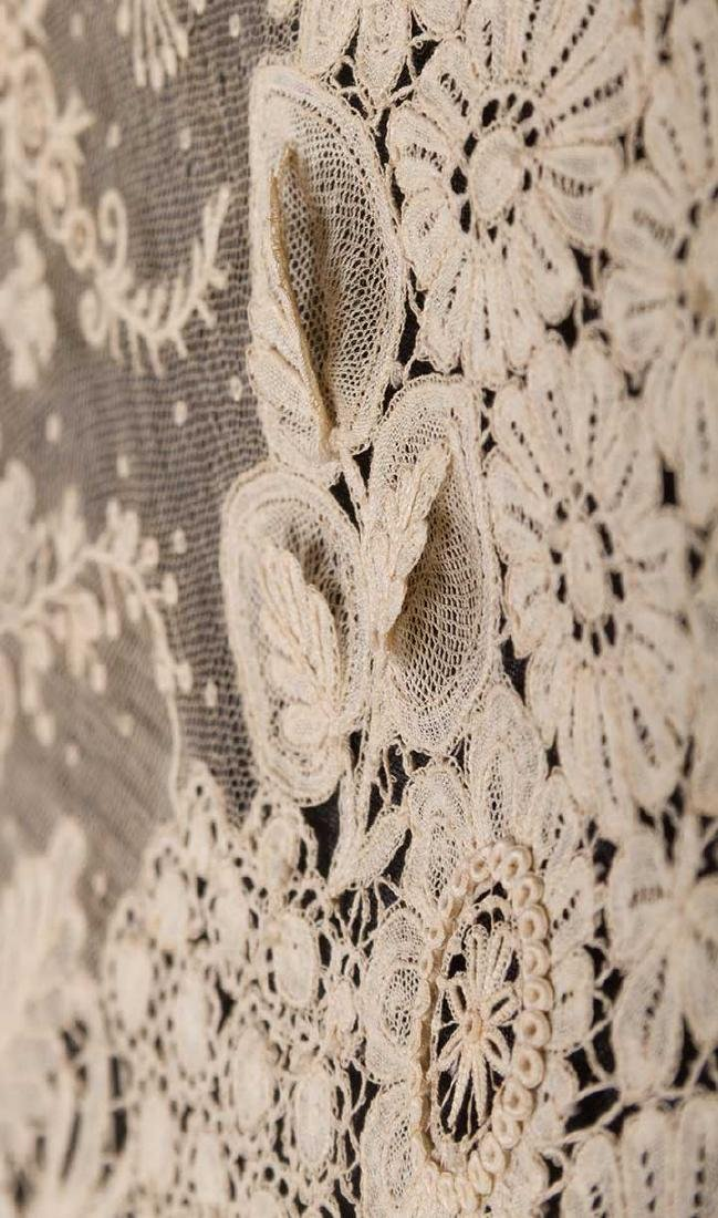 BRUSSELS MIXED LACE SHAWL, c. 1860 - 6