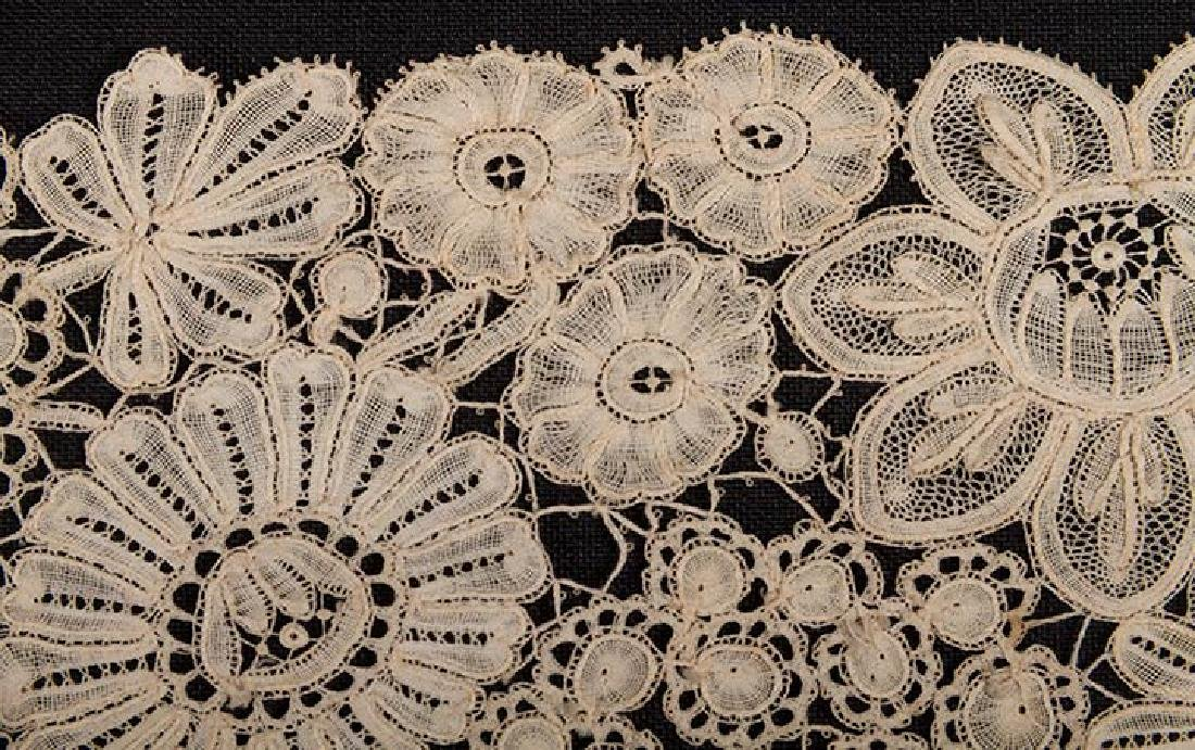 BRUSSELS MIXED LACE SHAWL, c. 1860 - 7