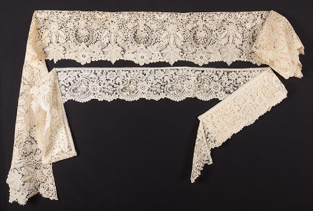 2 MIXED BRUSSELS LACE FLOUNCES - 10