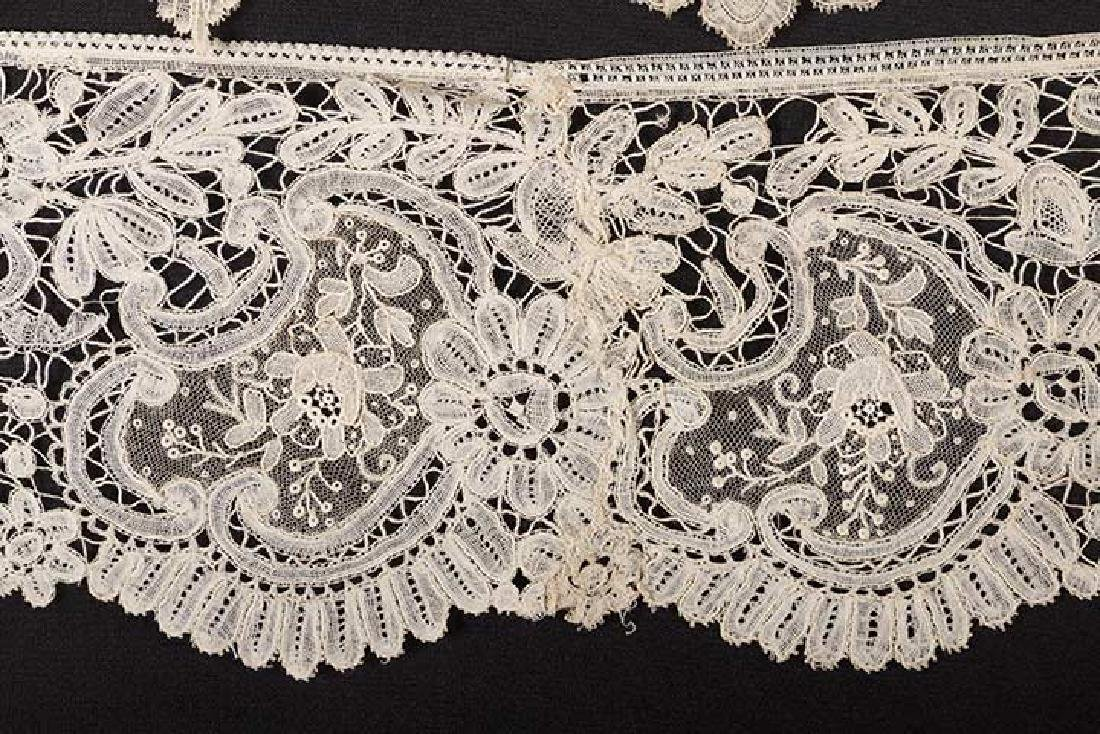 2 MIXED BRUSSELS LACE FLOUNCES - 5