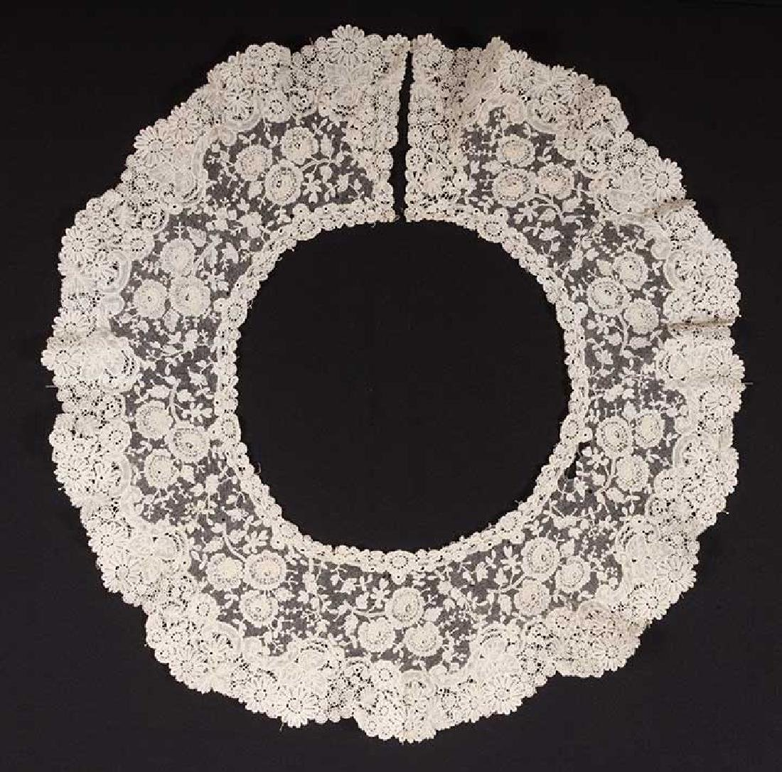 3 BRUSSELS MIXED LACE BERTHAS, 1870s - 10