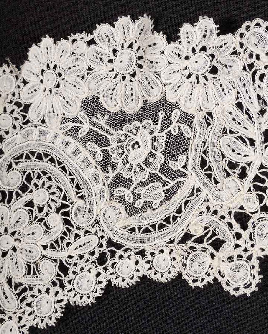 3 BRUSSELS MIXED LACE BERTHAS, 1870s - 3