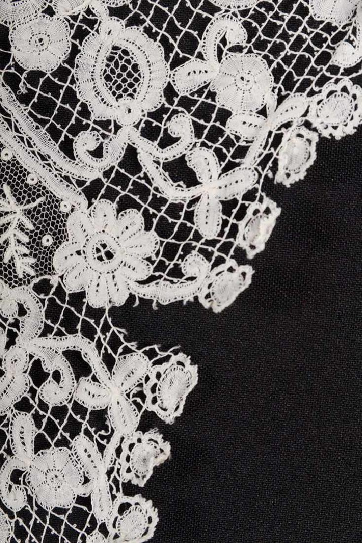 3 BRUSSELS MIXED LACE BERTHAS, 1870s - 7