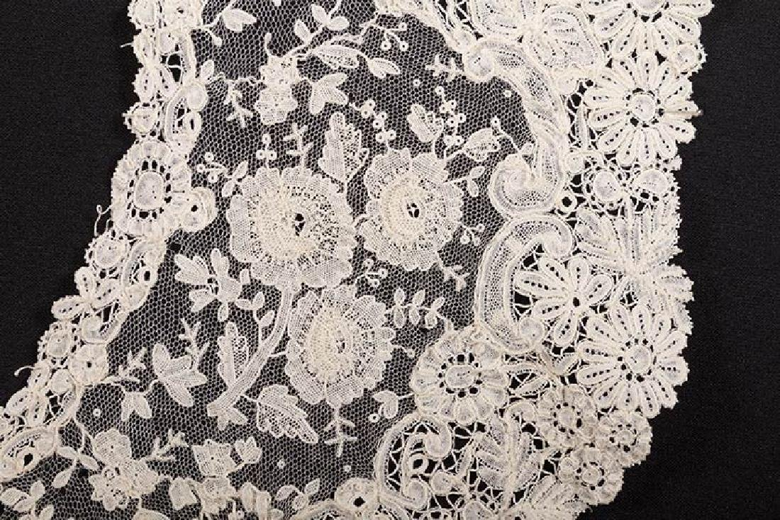 3 BRUSSELS MIXED LACE BERTHAS, 1870s - 8