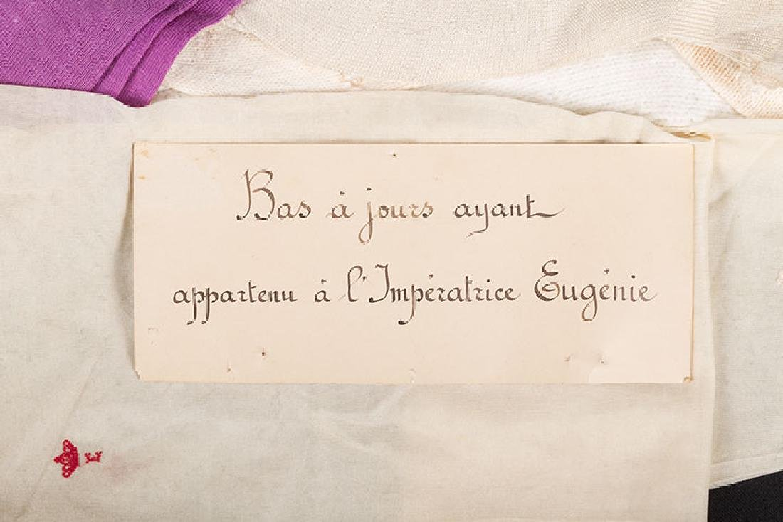EMPRESS EUGENIE HOSIERY, FRANCE, MID 19TH C. - 3
