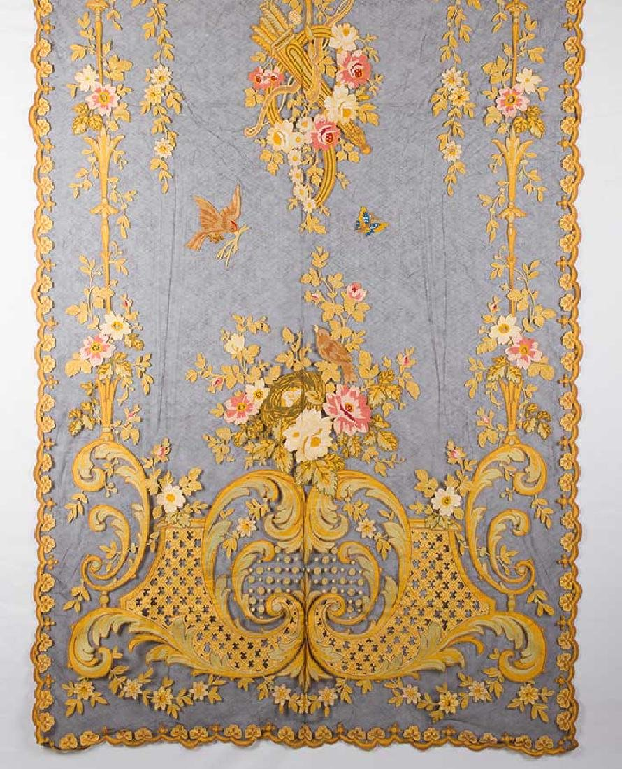 TAMBOUR CURTAIN PANEL, 19TH C