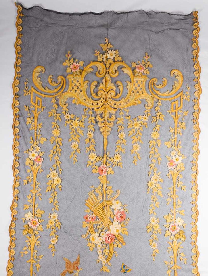 TAMBOUR CURTAIN PANEL, 19TH C - 2