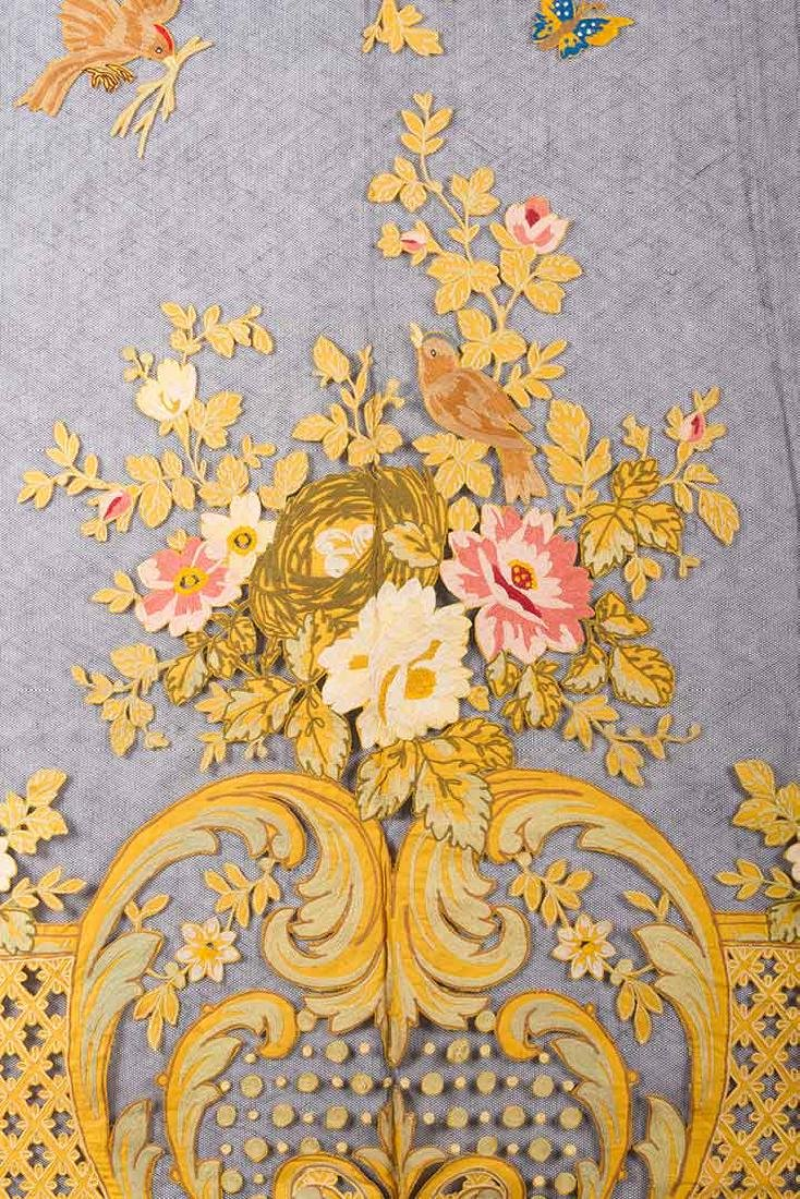 TAMBOUR CURTAIN PANEL, 19TH C - 3