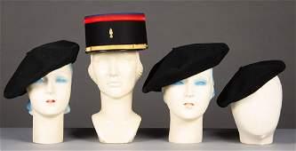FOUR KATHARINE HEPBURN BLACK HATS