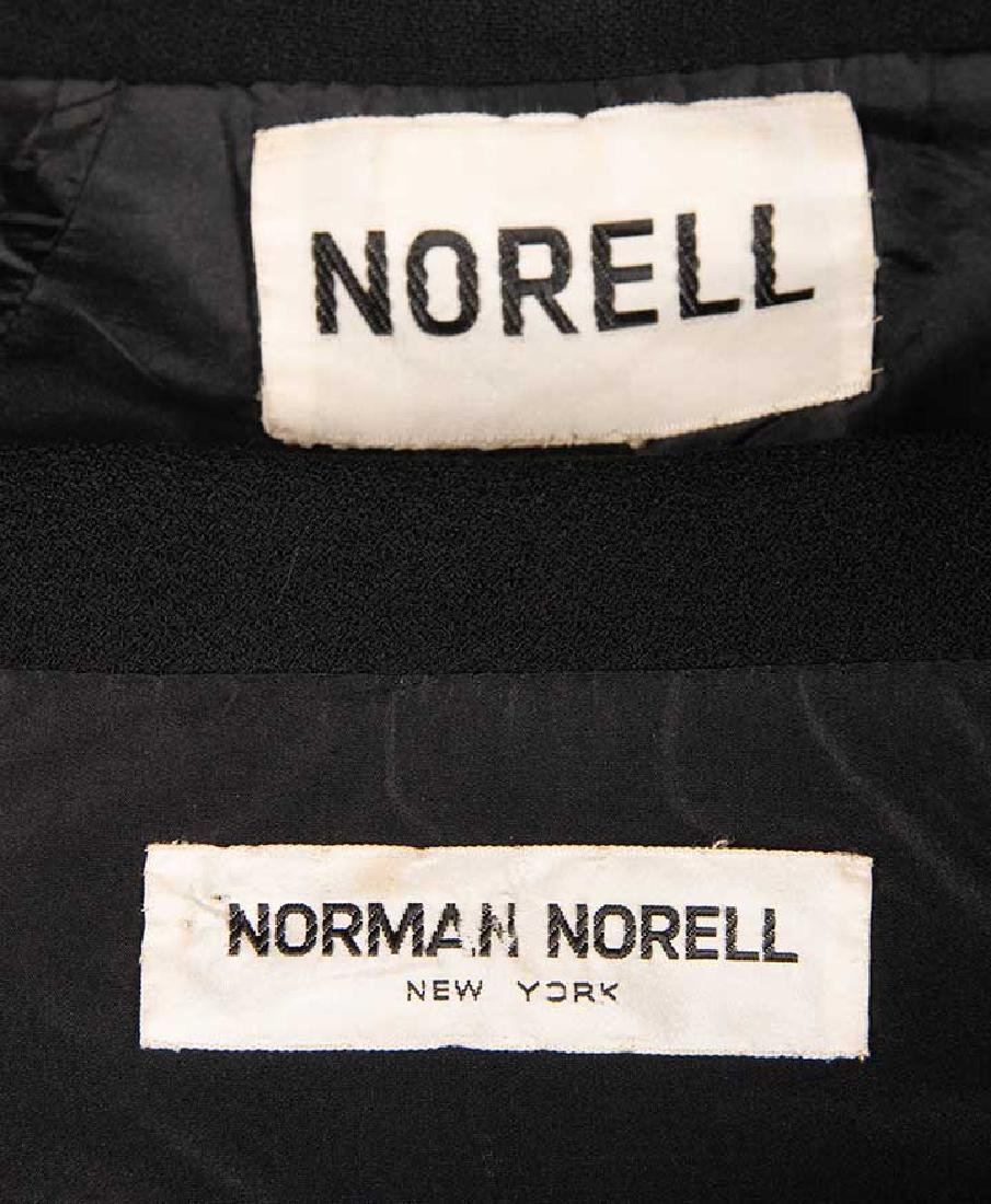 TWO NORELL BLACK WOOL DINNER OUTFITS, 1960s - 10