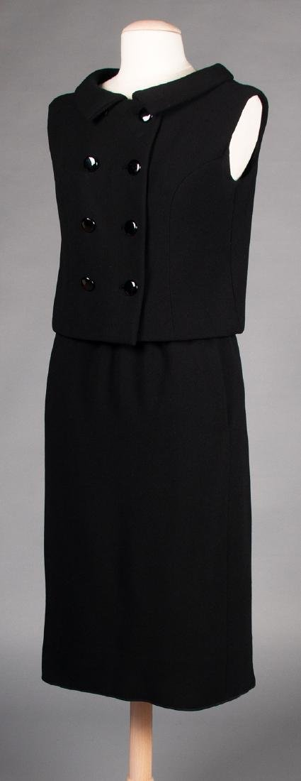 TWO NORELL BLACK WOOL DINNER OUTFITS, 1960s - 3