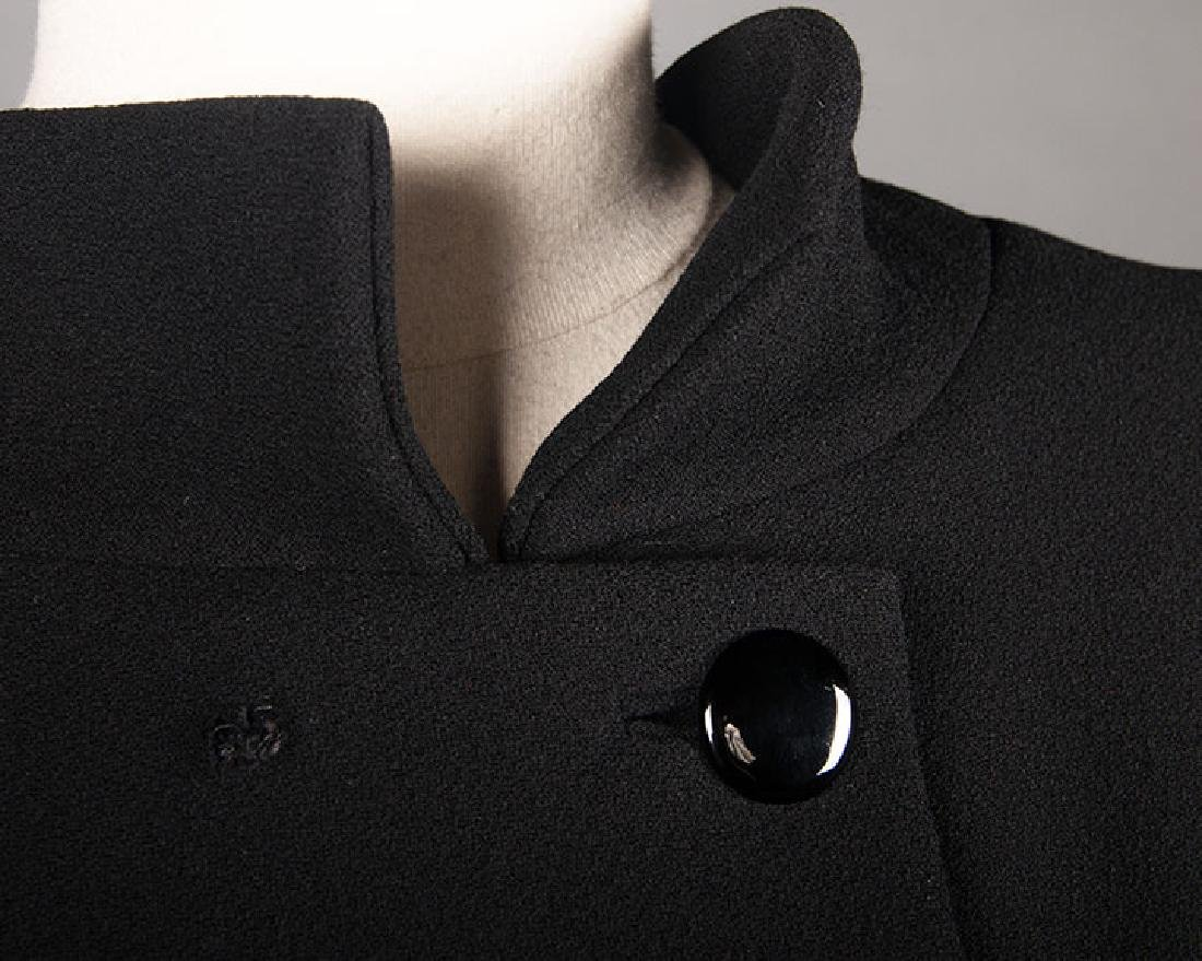 TWO NORELL BLACK WOOL DINNER OUTFITS, 1960s - 5