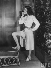 "KATHARINE HEPBURN'S ""PHILADELPHIA STORY"" SHORTS, 1939"