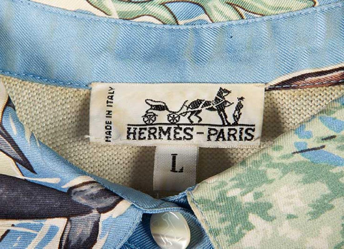 TWO MENS HERMES SILK SHIRTS, LATE 20TH C - 10
