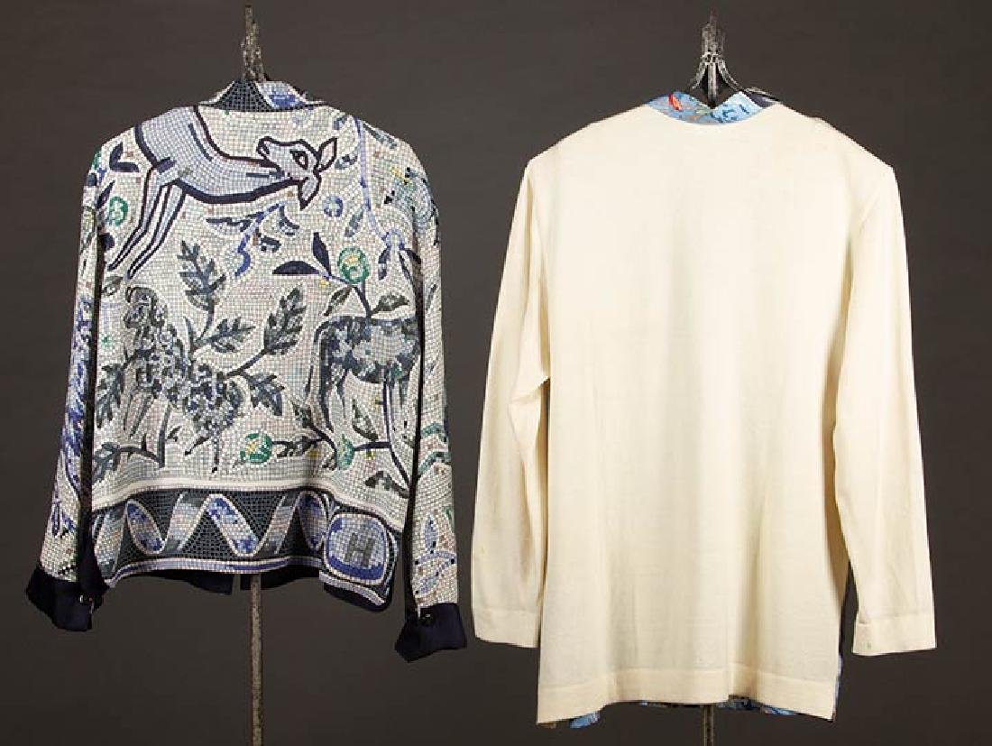 TWO MENS HERMES SILK SHIRTS, LATE 20TH C - 2