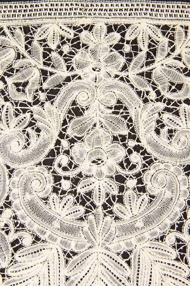 TWO H.M. BOBBIN LACE FLOUNCES, MID 19TH C - 3