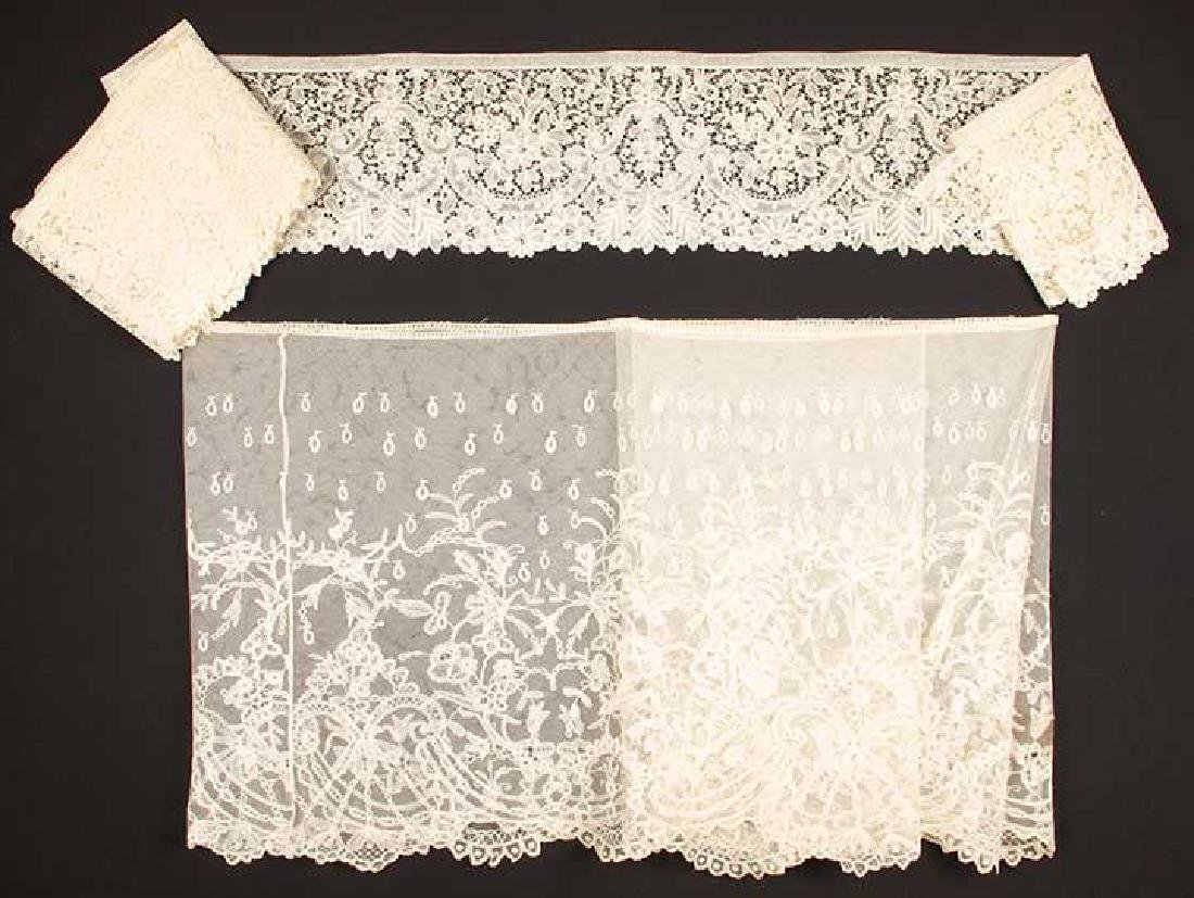 TWO H.M. BOBBIN LACE FLOUNCES, MID 19TH C - 8