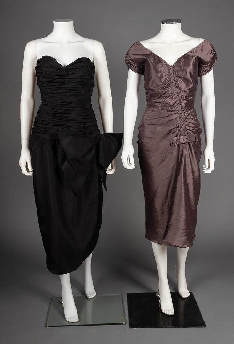TWO CHRISTIAN DIOR EVENING DRESSES, LATE 20TH C