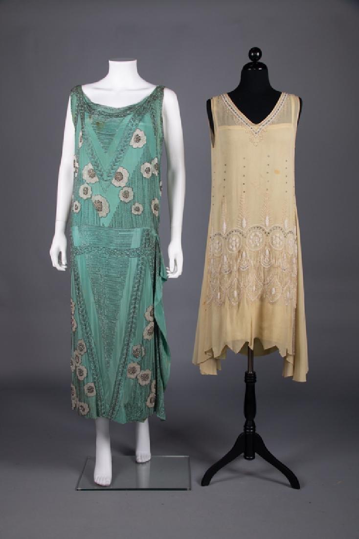 THREE BEADED FLAPPER DRESSES