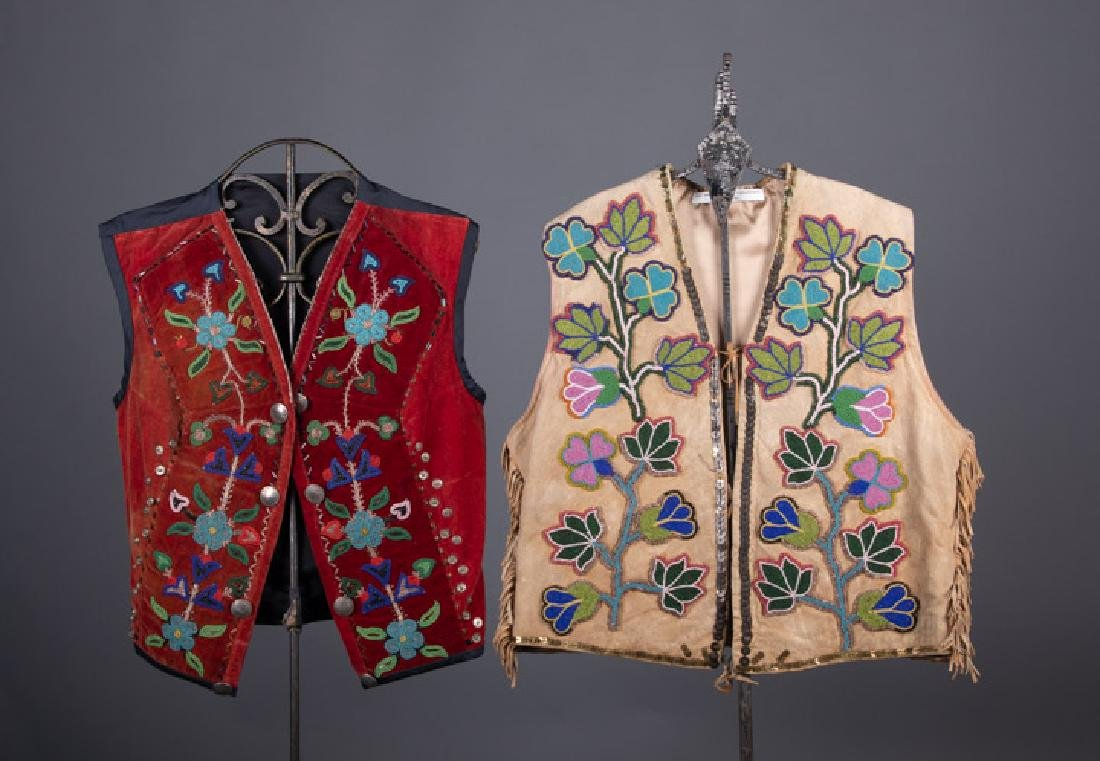 TWO NATIVE AMERICAN BEADED VESTS
