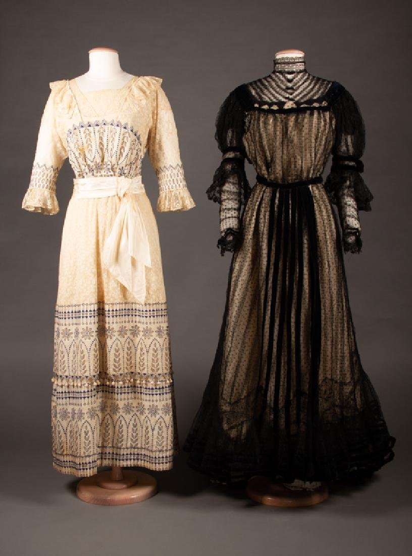 TWO TEA GOWNS, EARLY 1900s